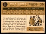 1960 Topps #27  Dick Drott  Back Thumbnail