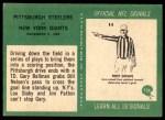 1966 Philadelphia #156   -  Gary Ballman / Bill Nelsen Pittsburg Steelers Back Thumbnail