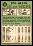 1967 Topps #24  Bob Allen  Back Thumbnail