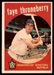1959 Topps #534  Faye Throneberry  Front Thumbnail