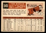 1959 Topps #545  Tom Morgan  Back Thumbnail