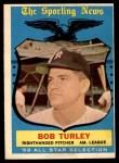 1959 Topps #570   -  Bob Turley All-Star Front Thumbnail