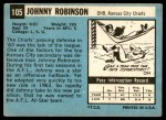 1964 Topps #105  Johnny Robinson  Back Thumbnail