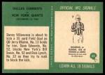 1966 Philadelphia #65   -  Danny Villanueva / Jerry Rhome Dallas Cowboys Back Thumbnail