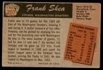 1955 Bowman #207  Frank Shea  Back Thumbnail