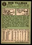 1967 Topps #36  Bob Tillman  Back Thumbnail
