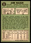 1967 Topps #90  Jim Nash  Back Thumbnail