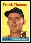 1958 Topps #409  Frank Thomas  Front Thumbnail