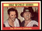 1961 Topps #313   1960 World Series - Summary - The Winners Celebrate Front Thumbnail