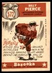 1959 Topps #572   -  Bill Pierce All-Star Back Thumbnail