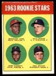 1963 Topps #549   -  Marcelino Lopez / Paul Ratliff / Pete Lovrich / Elmo Plaskett Rookie Stars Front Thumbnail