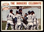 1964 Topps #140   1963 World Series Summary - The Dodgers Celebrate Front Thumbnail