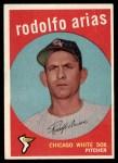 1959 Topps #537  Rodolfo Arias  Front Thumbnail