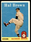 1958 Topps #381  Hal Brown  Front Thumbnail