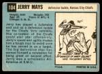 1964 Topps #104  Jerry Mays  Back Thumbnail