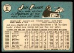 1965 Topps #93  Jack Fisher  Back Thumbnail