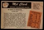 1955 Bowman #41  Mel Clark  Back Thumbnail