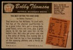 1955 Bowman #102  Bobby Thomson  Back Thumbnail