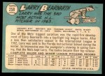 1965 Topps #258  Larry Bearnarth  Back Thumbnail