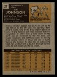 1971 Topps #24  Jim Johnson  Back Thumbnail