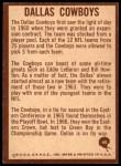 1967 Philadelphia #60   Dallas Cowboys Logo Back Thumbnail