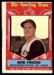 1959 Topps #569   -  Bob Friend All-Star Front Thumbnail