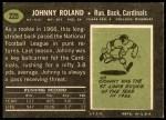 1969 Topps #225  Johnny Roland  Back Thumbnail