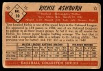 1953 Bowman #10  Richie Ashburn  Back Thumbnail