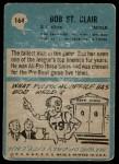 1964 Philadelphia #164  Bob St. Clair  Back Thumbnail
