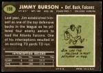 1969 Topps #159  Jim Burson  Back Thumbnail