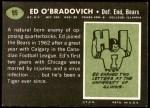 1969 Topps #95  Ed O'Bradovich  Back Thumbnail
