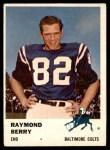 1961 Fleer #33  Raymond Berry  Front Thumbnail
