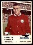 1961 Fleer #68  Charley Conerly  Front Thumbnail