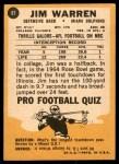 1967 Topps #81  Jim Warren  Back Thumbnail