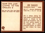 1967 Philadelphia #143  Jim Skaggs  Back Thumbnail