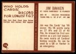 1967 Philadelphia #158  Jim Bakken  Back Thumbnail