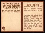 1967 Philadelphia #151  John Hilton  Back Thumbnail