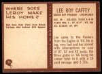 1967 Philadelphia #75  Lee Roy Caffey  Back Thumbnail