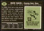 1969 Topps #81  Dick Bass  Back Thumbnail