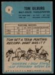 1964 Philadelphia #2  Tom Gilburg  Back Thumbnail