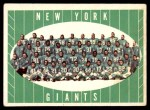 1961 Topps #93   Giants Team Front Thumbnail