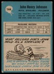 1964 Philadelphia #144  John Henry Johnson   Back Thumbnail