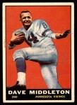 1961 Topps #81  Dave Middleton  Front Thumbnail