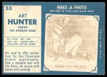 1961 Topps #53  Art Hunter  Back Thumbnail