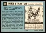 1964 Topps #39  Mike Stratton  Back Thumbnail