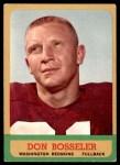 1963 Topps #162  Don Bosseler  Front Thumbnail