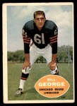 1960 Topps #18  Bill George  Front Thumbnail