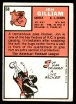 1966 Topps #68  John Gilliam  Back Thumbnail