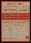 1965 Philadelphia #150  Ben McGee  Back Thumbnail