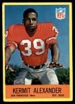 1967 Philadelphia #170  Kermit Alexander  Front Thumbnail